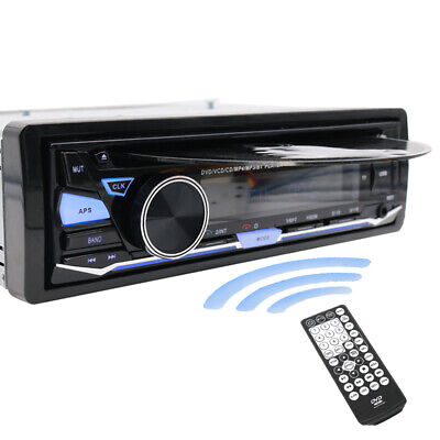 Single Din In Dash Car Stereo Radio Cd Dvd Media Player Aux Mp3 Usb Sd Fm