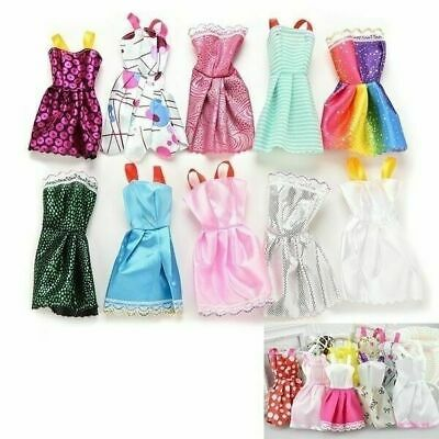 10Pcs Party Dresses Clothes Gown For Barbie Dolls Toys Girl's Gifts