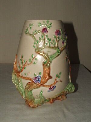 Clarice Cliff Art Deco Indian Tree Footed Vase Truly  Stunning