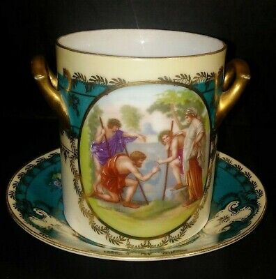Vintage Condensed Milk or Jam Server Cup with Saucer Made in Austria