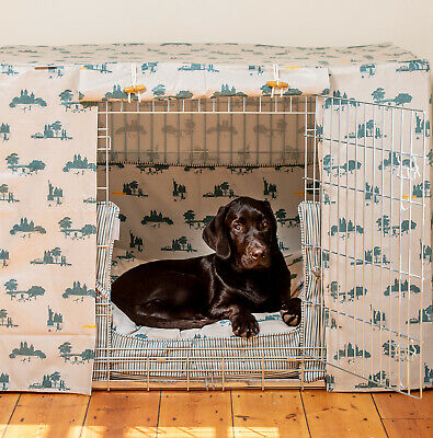 Lords & Labradors Central Park Oilcloth Dog Crate Cover