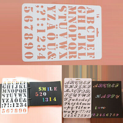 Alphabet Number Layering Stencils Spray Painting Template Scrapbooking Masking