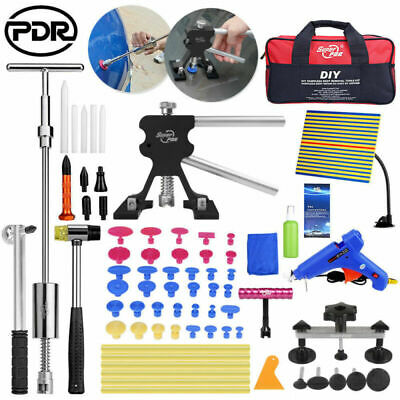 PDR Paintless Car Dent Repair Puller Lifter Hammer Lineboard T-Bar Bag Tools Kit