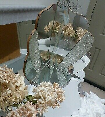 Vintage Art Deco Two Sided Mirror Shelf