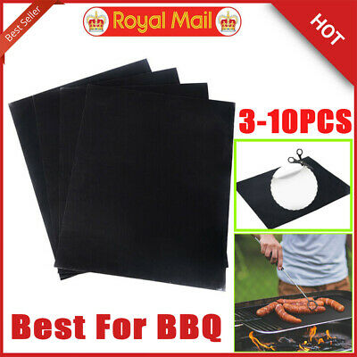 1-3X BBQ Grill Mat Sheet Resistant Reusable Non-Stick Barbecue Baking Roast Meat