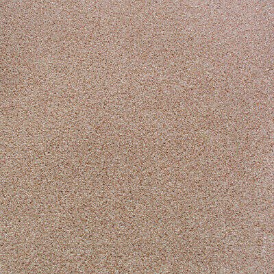 Beige Belfast Twist Felt Backed Carpet, Quality Flecked Hardwearing 4m 5m Wide