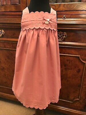 Dusky Pink Tartine et Chocolat Baby Dress - Age 12 months - RRP approx £70