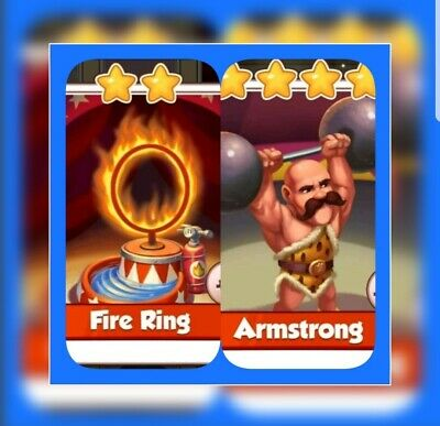 Fire Ring & Armstrong :- Coin Master Cards ( Fastest Delivery )