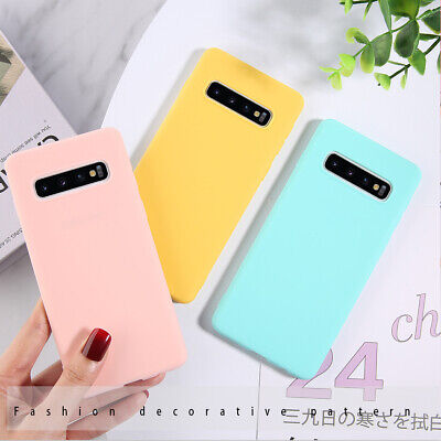 For Samsung Galaxy A6 A8+ S8 S9 S10+ Slim Silicone Rubber Frosted TPU Cover Case