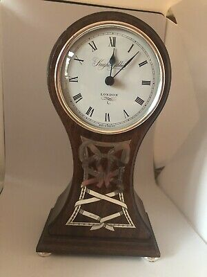 Knight & gibbins London mantle clock Silver Ribbon -battery