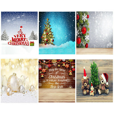 Ld_ Nd_ Cn_ Christmas Scene Non-Woven Fabric Photography Background Kids Photo
