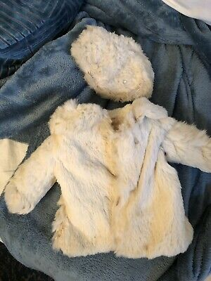 "Vintage Ideal Tagged 1930's Fur Doll Coat For 22"" Composition Shirley Temple"