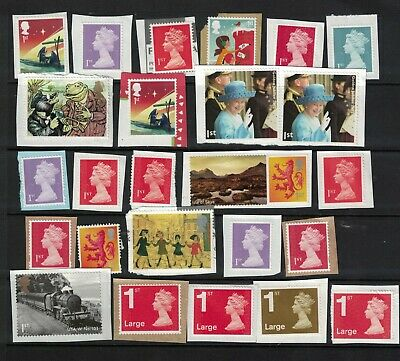 25 GB First Class (1st) Unfranked Postage Stamps on paper MIx £18.+ Face