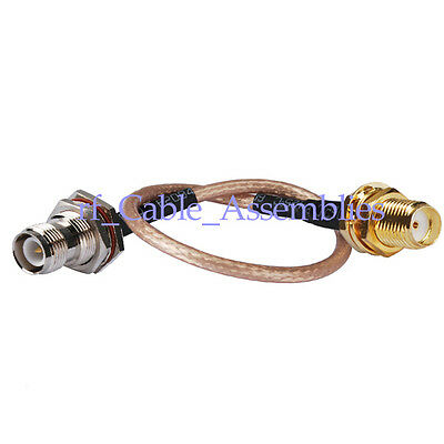 RP-TNC female male pin to SMA jack RF pigtail Cable RG316 15cm for wifi antenna