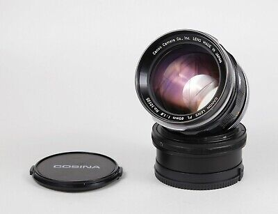 Canon FL 85mm 1:1.8 lens + Canon FL to Sony E adapter - Very good Serviced Lens!