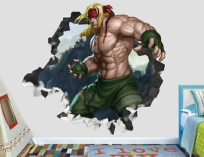 Street Fighter V Smashed Wall Decal Sticker Decor Art Mural PS4 XBOX J155