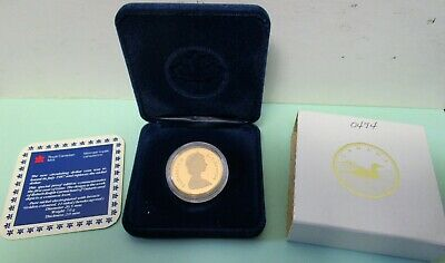 1987 Canada Proof Dollar. 1St Year Loon. W/ Coa And Case.
