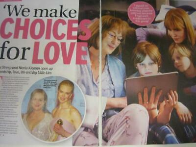 MERYL STREEP Nicole Kidman*3 Page JUNE 2019*Magazine Clipping*Big Little Lies*