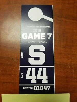 Game 7 Penn State vs Rutgers 11/30/19 (PARKING PASS ONLY) (Lot #44 - Old Blue)