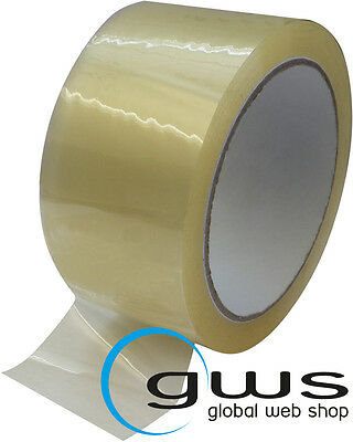 Packing Tape Pp Colourless 43my Low Noise 66Mx50mm 6-288 Quiet Packing Tape Pro