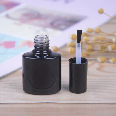 10ml Empty Nail Polish Bottle Black Glass With Agitator Mixing Ball Nail polish<