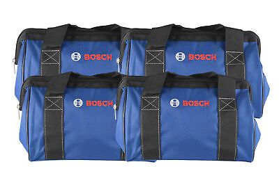 """Bosch 13"""" Tool Bag featuring a wide mouth zipper opening  4 Pack"""