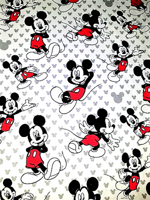 Mickey Mouse Cotton Crib or Toddler Bed Fitted Sheet, New Handmade