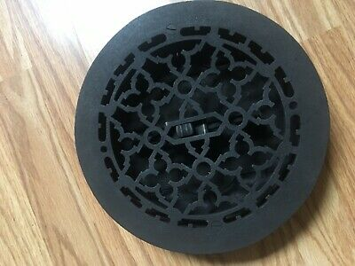 "VINTAGE HEAT VENT CAST IRON (TUTTLE & BAILEY) VERY NICE CONDITION  9.5"" round"