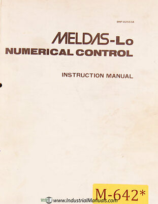 Mitsubishi Meldas LO, NC, Install Operations Programming and Wiring Manual