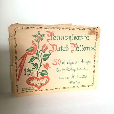 Vintage Pennsylvania Dutch Patterns 50 Different Designs 1948 Jane Zook D-200