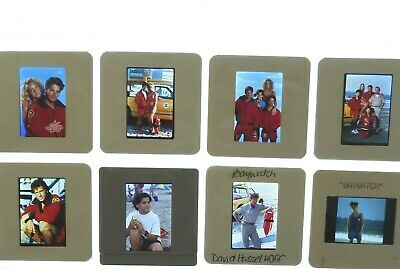 BAYWATCH Lot of (8) 35mm Studio slides transparencies life guard LA Beach NBC