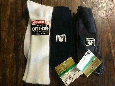 Lot NOS Men's Cotton Nylon Dress Socks White Charcoal Black BVD JCPenney