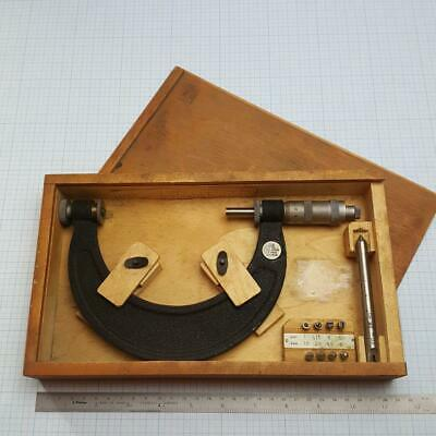 Screw Thread Micrometer 100-125mm +8 Metric ISO60° Pitch inserts
