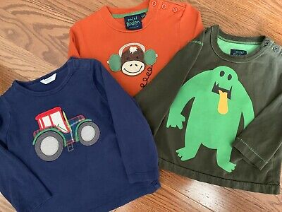 Mini Boden Boys 18-24 Months Lot Set of 3 Long-Sleeve Shirts Tops