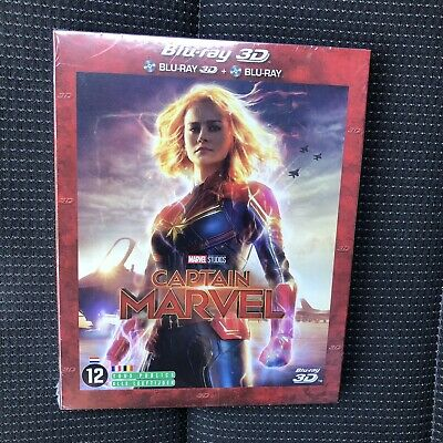 Captain Marvel  2019  Blu Ray 3D + Blu Ray Neuf Scelle