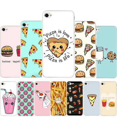 Pizza French fries Doughnut food Hard Case for iPhone XS Max XR X 8 7 6 Plus