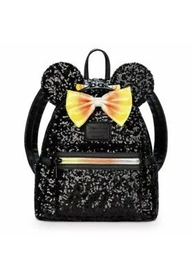 Disney Parks Halloween 2019 Minnie Mouse Candy Corn Backpack Loungefly Purse