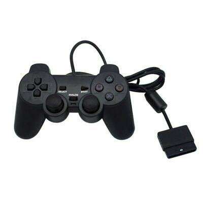 Black Twin Shock Game Controller Joypad Pad for Sony PS2 Playstation 2