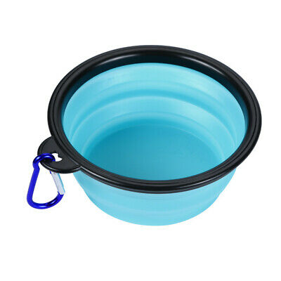 Dog Cat Pet Silicone Collapsible Travel Feeding Bowl Water Dish Feeder V