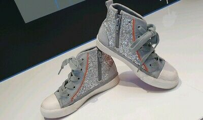 John Lewis Trainers Girls Size 11 Glitter Hi Tops lovely smart shoes