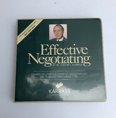 Effective Negotiating by Dr. Chester L. Karrass  (11 cassettes)