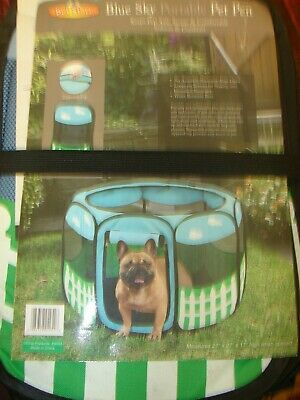 Portable Pet Pen Foldable Exercise Playpen Tent For Dog Cat w/ Soft Crate Cover