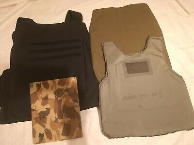NAVY BLACK LEVEL II  BULLETPROOF VEST BODY ARMOR 9mm LIGHT
