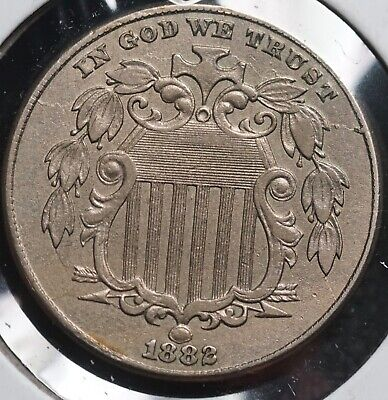 1882 Shield Nickel 5c Coin