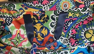 "Vera Bradley Rolling Duffel travel Bag 22"" Carry On Wheeled Luggage Rare RIO"