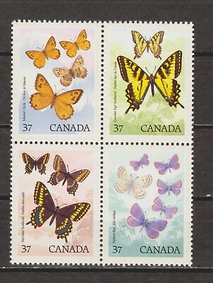 Canada 1988 Butterfly Block Mint NH