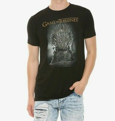 Game Of Thrones IRON THRONE T-Shirt Black GOT Tee NWT Licensed & Official