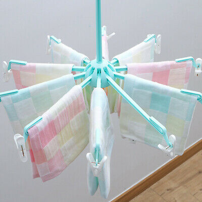 Foldable Clothes Drying Clips Rack Peg Laundry Hanger Windproof Drying Rack Beam