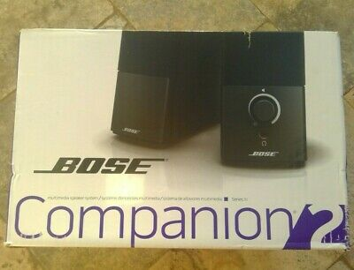 🌟🎈 Bose Companion 2 Series III Multimedia Speaker System | Black 🌟