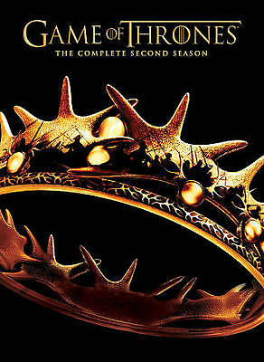 Game of Thrones: The Complete Second Season (DVD, 2013, 5-Disc Set) Watched Once